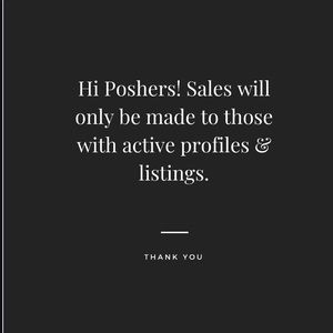 Accessories - Hi Poshers Sales Only For Active Poshers